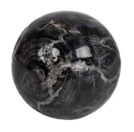 decoratiebal Marmer 9 cm hout zwart