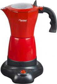 espressomachine elektrisch 26,5 cm rood