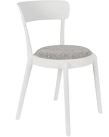 stoel Hoppe Comfy 79 cm polyester/katoen wit/grijs