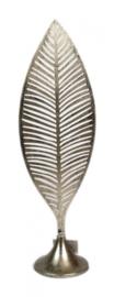 beeldje Veer 52 x 16 x 11,5 cm staal zilver