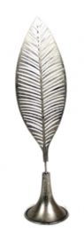 beeldje Veer 46 x 12 x 11 cm staal zilver