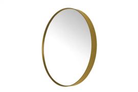 spiegel Donna-5 RVS rond 90 x 5 cm goud