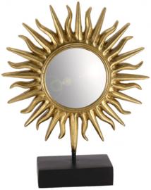 spiegel Sun 29 x 35,5 cm polyresin/glas zwart/goud
