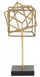 ornament Karim 18 x 39 cm nikkel goud