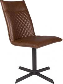 stoel Ivar 89,5 cm staal/kunstleer bruin/zwart