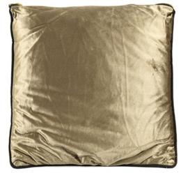 decoratiekussen Valerie 45 x 45 cm textiel goud