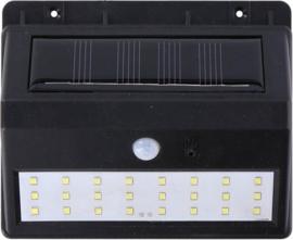 solar muurlamp 14 x 11,6 x 5 cm zwart