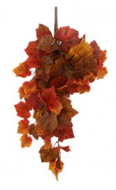 kunstbloemen 65 x 25 cm zijde oranje/bruin