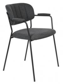 stoel Jolien 79 x 60,5 x 57 cm polyester/nylon/staal zwart