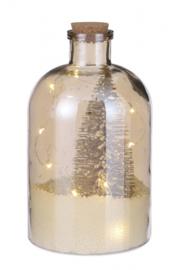 fles RC led 14 x 26 cm glas geel 2-delig