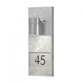 huisnummerlamp 35W 230V staal 41 cm zilver