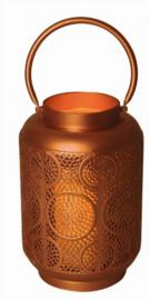 sfeerlamp Lantaarn Circles led 1,5V 16,5 cm staal goud