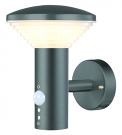 wandlamp Bitburg 900lm 11W RVS 14,8 x 18,3 cm antraciet