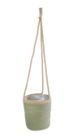 bloempot Arno 20 cm riet groen/naturel