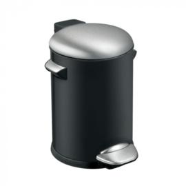 pedaalemmer Belle Deluxe 3 liter RVS zwart