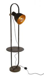 staande lamp Rene 26 x 141,5 cm staal roestbruin