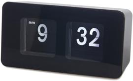 bureauklok flip-klok 9,35 x 17,6 cm ABS zwart