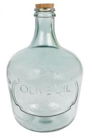 vaas 'Garrafa' 27x27x42 cm glas groen
