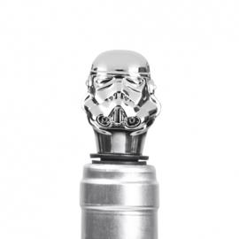Stormtrooper wijnstopper zilver roestvrij staal 2,6 x 7,7 x 2,6 cm