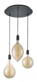 hanglamp Ginster 140 x 40 cm metaal matzwart