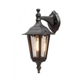 wandlamp Firenze 60W 230V aluminium 45 cm zwart