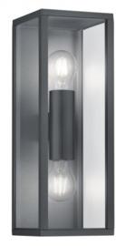 wandlamp Garonne 14 x 14 x 38 cm aluminium antraciet