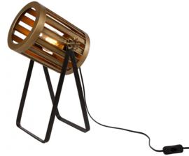 tafellamp 'Spot' 28x28x46 cm metaal goud/zwart