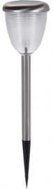 zonne-tuinlamp led 35cm zilver