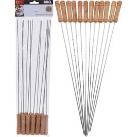 Barbecue pennen 38cm set van 12
