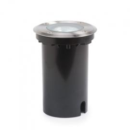 grondspot rond 7W 230V RVS/aluminium 15 cm zwart