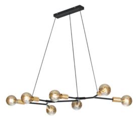 hanglamp Cross 91 x 150 cm metaal matzwart/goud