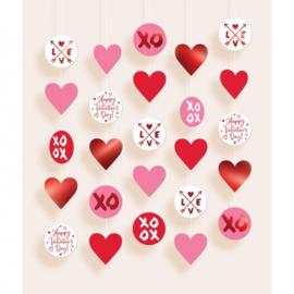 slingers Valentijnsdag 150 cm 5 stuks
