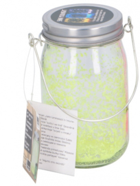 glow in the dark pot 8x14 cm glas geel