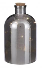 fles RC led 14 x 26 cm glas grijs 2-delig