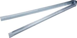 kolentang 39 cm RVS 115 gram zilver