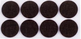 Anti-krasvilt zelfklevend ø28mm bruin 16 stuks