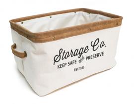 opbergmand Vintage 24 liter 40 cm textiel beige/bruin