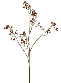 kunstplant Berre Spray 94 cm zijde groen/rood