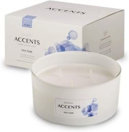 geurkaars Accents Spa Time 13,7 cm wax wit