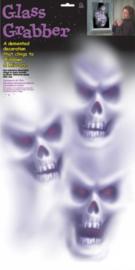 raamdecoratieset Halloween-spoken wit 3-delig