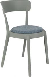 stoel Hoppe Comfy 79 cm polyester/katoen grijs/blauw