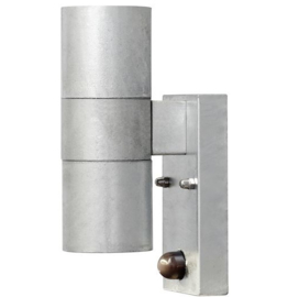 wandlamp Modena sensor 2 x 35W 230V staal 20 cm zilver