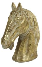 ornament paardenhoofd Karl 22,5 x 29,5 cm keramiek goud