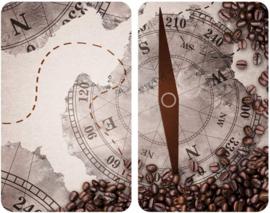 afdekplaat Kompas 30 x 52 cm glas/keramiek beige 2 stuks