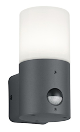 wandlamp Hoosic bewegingsensor 17 cm alu antraciet