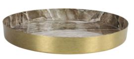 countryfield dienblad marble 25x3 staal nikkel goud