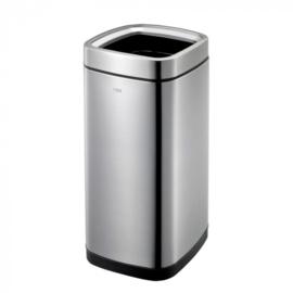 afvalbak Laguna 35 liter RVS matzilver