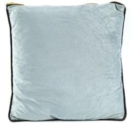 decoratiekussen Valerie 45 x 45 cm textiel grijs