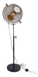 staande lamp Wire 27 x 40 cm staal goud/zwart