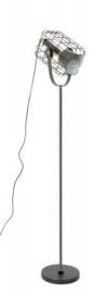 vloerlamp Cage 158 cm staal zwart